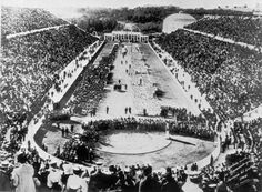 The Opening Ceremony at the 1896 Athens Olympics ~ the first Olympics