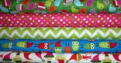 5 Fat Quarters Jingle 2 by Ann Kelle Jolly by spiceberrycottage, $13.75