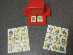 FREE Printables for Speech Therapy w/children w/ Autism - adapts ZINGO game! Visit pinterest.com/arktherapeutic for more #speechtherapy games and activities