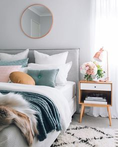 Pastel colors in the bedroom guarantee a good sleep! See more at spotools.com