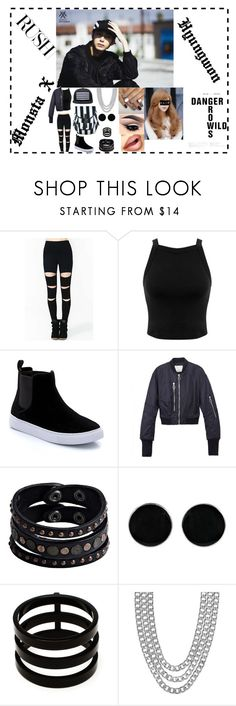 """RUSH ""MONSTA X "" Hyungwon"" by lovelyseoul784 on Polyvore featuring Miss Selfridge, 3.1 Phillip Lim, Replay, AeraVida, Repossi and Henri Bendel"