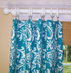 Coral And Mint Curtain Damask Window Kids Curtains Turquoise Panel Elegant Bathroom Custom Size ANY COLOR 118