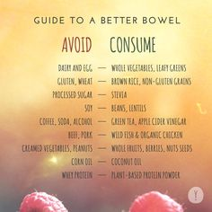 Here is our recommended list of foods to eat while on a clean eating detox diet. Just as important is a dietary list of foods to avoid that cause allergies, sensitivities, and digestive bowel problems.