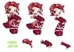 cute rød pige