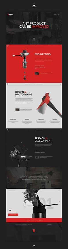 Much whitespace, best-practise-selling-colours (white/red/black), modern typo, premium imagery, simple grid. I like!