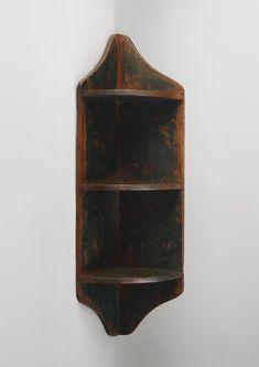 Primitive corner shelves