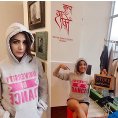 On a shopping spree at @nrityashakti store! Loving my brand new hoodie . Thank you behna