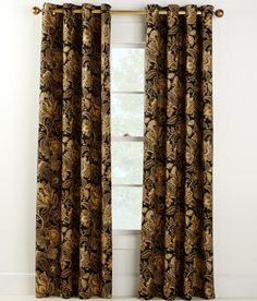 Paisley Jacobean Lined Grommet Top Curtains - Country Curtains®