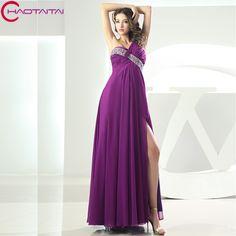 Purple Chiffon Long Bridesmaid Dresses 2017 Sweetheart Pleat Wedding Party Dress
