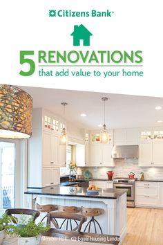 What project would turn your home into your dream house: a massive kitchen with lots of counter space? Or, a spacious deck for hosting big summer cookouts? A Home Equity Line of Credit can help you get there. Not only will these renovations make you love your home more, but they'll also add value.Check out five projects that can increase your home's value.