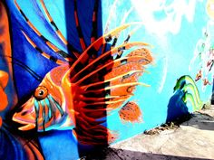 https://flic.kr/p/S4A1ca | Lionfish | Wall art on 30 Av. Sur, Cozumel, Mexico