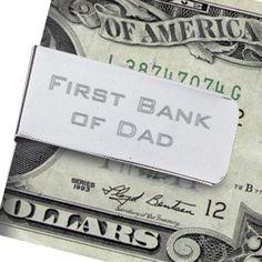 Bank of Dad money clip