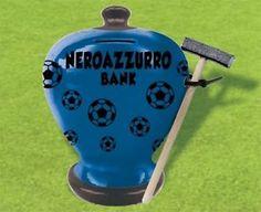Salvadanaio NERO AZZURRO terracotta verniciata idea regalo tifoso INTER | eBay