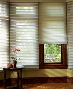Hunter Douglas Window Fashions - window blinds - boston - Interior Expressions/ Nardelli Home Decor Mini Blinds, Blinds For Windows, Window Blinds, Boston Interiors, Honeycomb Shades, Classic Window, Hunter Douglas, Curtain Designs, Curtain Ideas