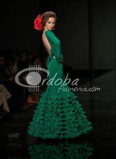Flamenca verde botella