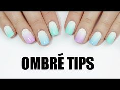 EASY ombre tip nail art! - YouTube