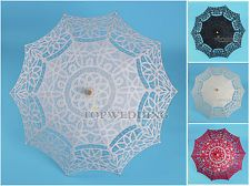 "5 Colors Battenburg Lace Embroidery Parasol Bridal Wedding Umbrella Handmade 30"""