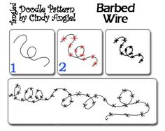 Easy Barbed Wire Doodle Worksheet by Paint Chip, via Flickr