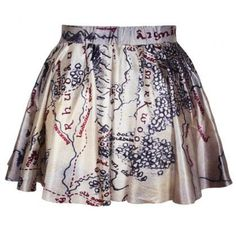 Middle Earth map printed skirt. I NEED THIS!!!!!@