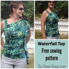 Waterfall Top by Deby Coles | Sewing Pattern