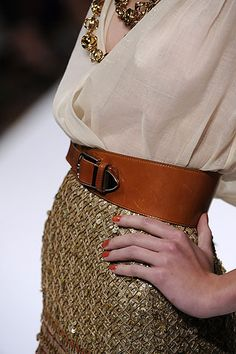 I need some more belts too... Oscar de la Renta
