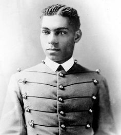 Henry Ossian Flipper, photographed in his US Military Academy cadet uniform, ca. 1877.  Flipper was the first African American graduate of West Point