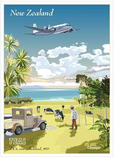 TEAL Postcard by Air Classique...