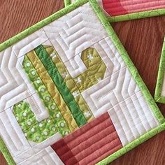 Sew Block Quilt Image of Saguaro Cactis Quilt Block Pattern - x - This listing is for one . The Saguaro is the quintessential cactus. Some have grown over 70 feet tall and have been known. Quilt Block Patterns, Pattern Blocks, Quilt Blocks, Antique Quilts, Vintage Quilts, Quilting Projects, Sewing Projects, Quilting Ideas, Sewing Ideas