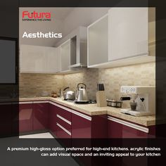 Get the best option to help you decide what type of finish you must get for your kitchen cabinets. For more details Visit: http://www.futurainterior.com/ #FuturaInterior #ModularKitchen #ModularKitchenBangalore #Kitchen #kitchencabinets