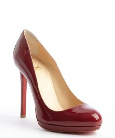 Christian Louboutin rouge patent leather 'Neofilo 120' pumps