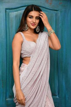 Indian Hot Girl Nidhhi Agerwal In Transparent Violet Saree Hot Images Of Actress, Bollywood Actress Hot Photos, Beautiful Bollywood Actress, Bollywood Celebrities, Nidhi Agarwal Actress, Nidhi Agarwal Hot, Indian Heroine Photo, Actress Navel, Exotic Women
