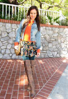 Sydne Summer of the blog Sydne Style wears a Gap denim jacket.