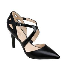Nine West Pointed Toe Pump with Strap Detail