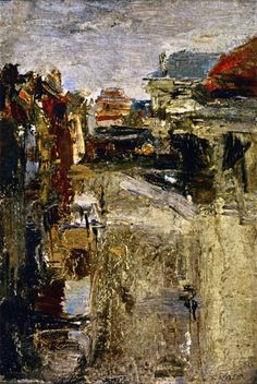 Boulevard Van Iseghem in the Rain, James Ensor - 1880, Private collection, oil on cardboard, Height: 23.5 cm (9.25 in.), Width: 16.5 cm (6.5 in.)