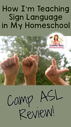 How I'm Teaching Sign Language in My Homeschool: Camp ASL Review • Chaotic Bliss Homeschooling