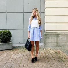 (Blogger Cara Mcleay at a fashion love affair wearing our Outing Shirt Dress)