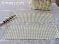 Il country e il mare: PORTA MOLLETTE CON TUTORIAL Tutorial, Sewing, Tejido, Feltro, Bread Baskets, Embroidery, Bags, Couture, Fabric Sewing