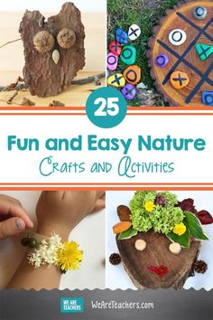 25 Fun and Easy Nature Crafts and Activities! Nature Crafts, Fun Crafts, Crafts For Kids, Projects For Kids, Art Projects, Unique Trees, Outdoor Classroom, Preschool Art, Imaginative Play