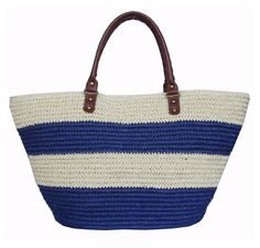 With enough room to carry all the essentials (and then some), this lightweight paperstraw tote is the perfect pick for hot summer days and nights. Features include one zipper pocket, one open...