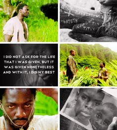 """I did not ask for the life I was given..."" Mr. Eko"