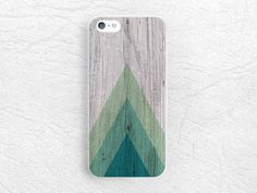 Geometric Wood print Phone Case for iPhone, Sony z1 z3 compact, LG g3 g2, HTC one m7 m8, Moto x Moto g, green triangle wood print cover -S1