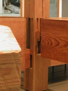 Японские дома. Стыки деревянных конструкций.