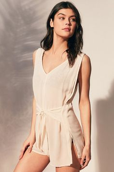 Out From Under Kits Beach Tie-Front Romper