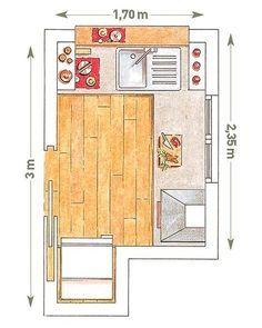 Cocinas de ancho y 3 mts de largo google search for Planos de cocinas