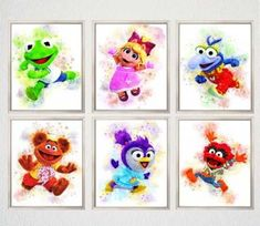 Baby room wall decor parents 43 ideas for 2019 Muppet Babies, Baby Room Wall Decor, Baby Room Art, Baby Rooms, Baby Prints, Wall Art Prints, Canvas Prints, Die Muppets, Cactus Wall Art