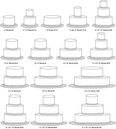 Perfect! Now you can see exactly what size cakes to bake based on the number of people your client needs to feed! Cake Serving Guide, Cake Serving Chart, Cake Sizes And Servings, Cake Servings, Cake Chart, Cake Portions, Cake Pricing, Cake Business, Business Ideas
