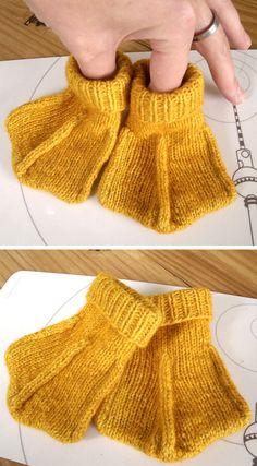 Free Knitting, Knitting For Kids, Baby Knitting Patterns, Baby Patterns, Knitted Hats Kids, Kids Hats, Baby Sewing Projects, Knitting Projects, Baby Socks