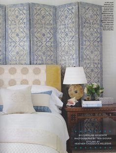 Lien Luu design, Anguilla, Coastal Living, bedroom, headboard, screen, exotic