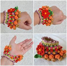 It is a website for handmade creations,with free patterns for croshet and knitting , in many techniques & designs. Beaded Braclets, Crochet Bracelet, Used Iphone, Jewelry Patterns, Handmade Accessories, Jewelry Branding, Crochet Flowers, Handmade Bracelets, Knitting Projects