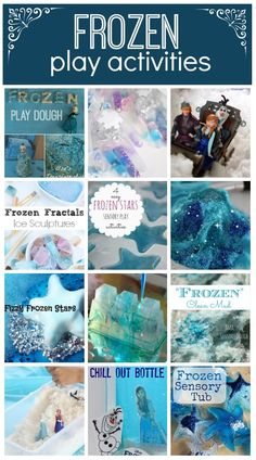 Fairytale crafts for kids: Frozen Play Activities: Hands on play time for fans of the disney Frozen Movie - play dough, slime, and sensory play Disney Frozen Party, Disney Frozen Crafts, Frozen Party Games, Frozen Themed Birthday Party, Birthday Party Themes, Frozen Movie, 1st Birthday Activities, Play Frozen, Princess Party Games